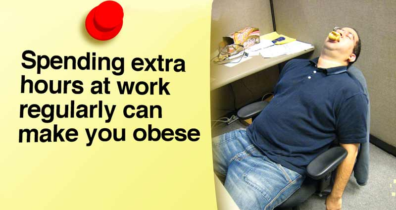 Spending Extra Hours at Work Regularly Can Make You Obese