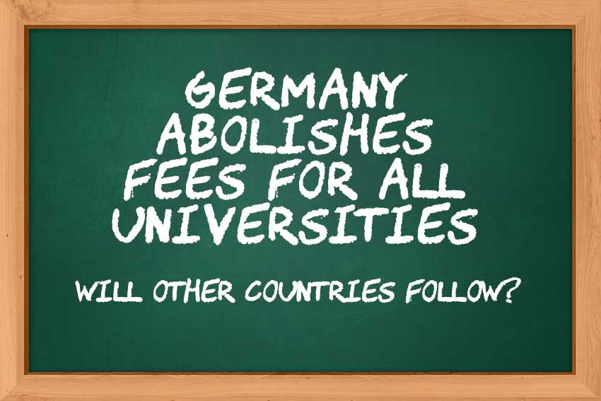 Germany Abolishes Fees For All Universities