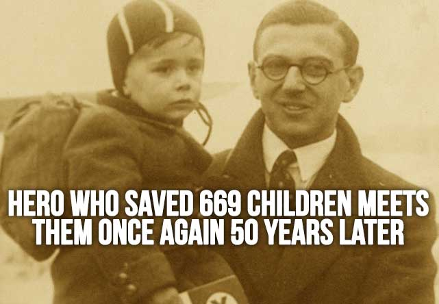 Hero Who Saved 669 Children Meets Them Once Again 50 Years Later