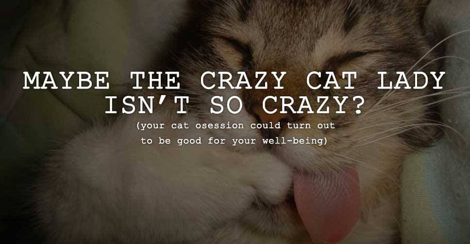 Maybe the Crazy Cat Lady Isn't So Crazy?
