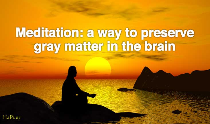 Meditation: A Way To Preserve Gray Matter in The Brain