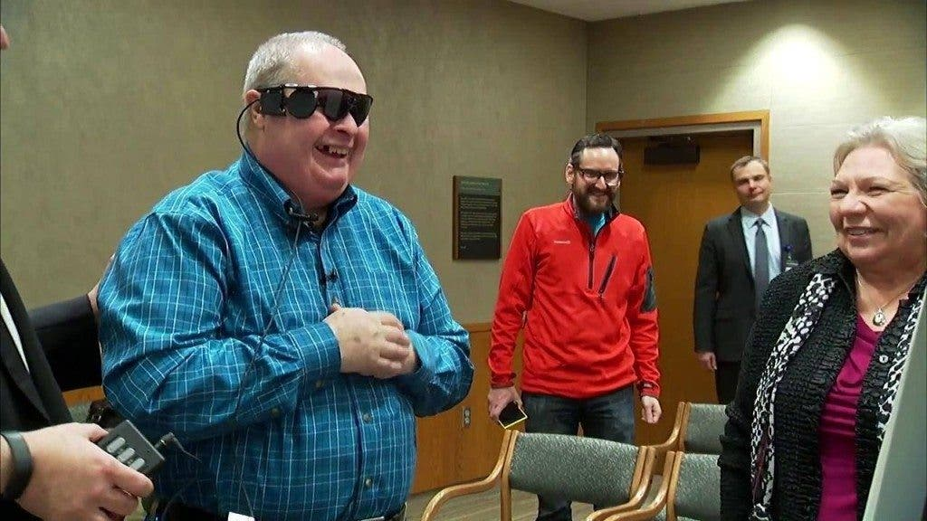 Bionic Eye Helps Blind Man See
