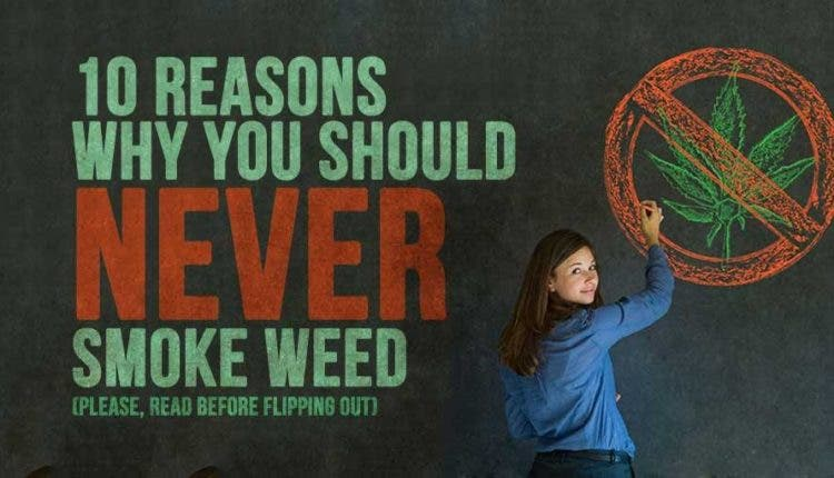 reasons to never smoke weed