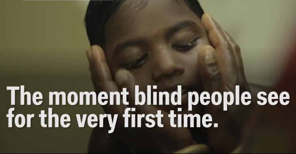 This Is What It Looks Like When Blind People See For The First Time