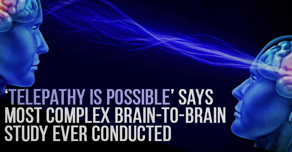'Telepathy Is Possible' Says Most Complex Brain-To-Brain Study Ever Conducted