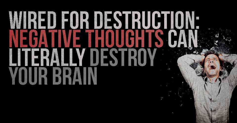Wired for Destruction: Negative Thoughts can Literally Destroy Your Brain
