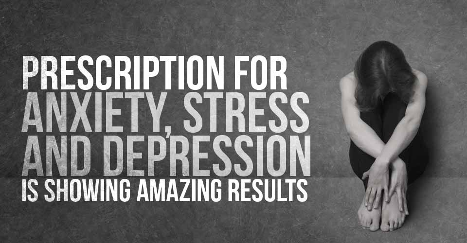 Prescription for Anxiety, Stress, and Depression is Showing Amazing Results