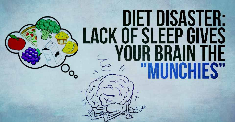 "Diet Disaster: Lack of Sleep gives your Brain the ""Munchies"""