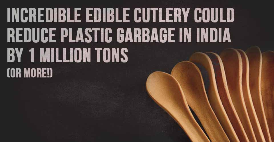 Incredible Edible Cutlery Could Reduce Plastic Garbage in India by 1 Million Tons (Or More!)