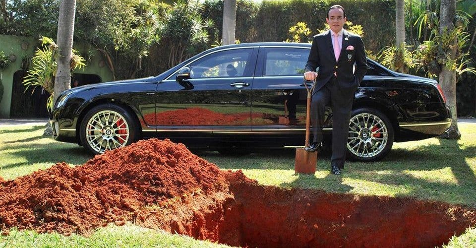 This Brazilian Businessman Buried his Bentley For the Most Epic Reason