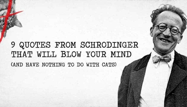 9 Quotes From Schrodinger That Will Blow Your Mind (and