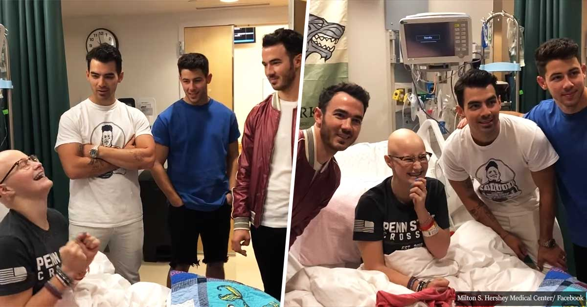 Girl misses a Jonas Brothers concert due to her chemotherapy treatment, but gets a surprise visit...