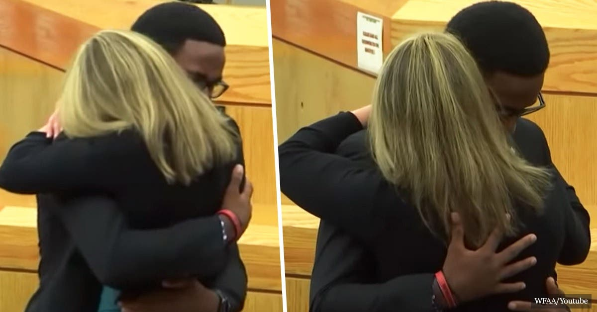 "Man asks to hug woman who killed his brother: ""I Forgive You."" ""I Love You."" ""Give Your Life to Christ."""
