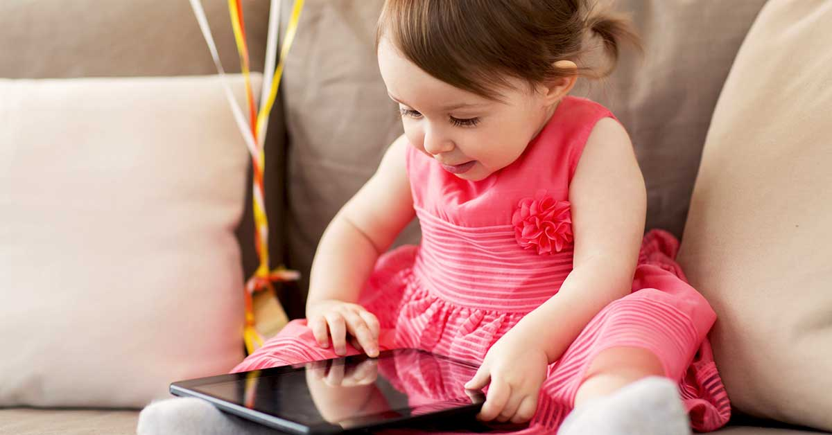 How does a toddler's brain change when it spends too much time in front of screens?