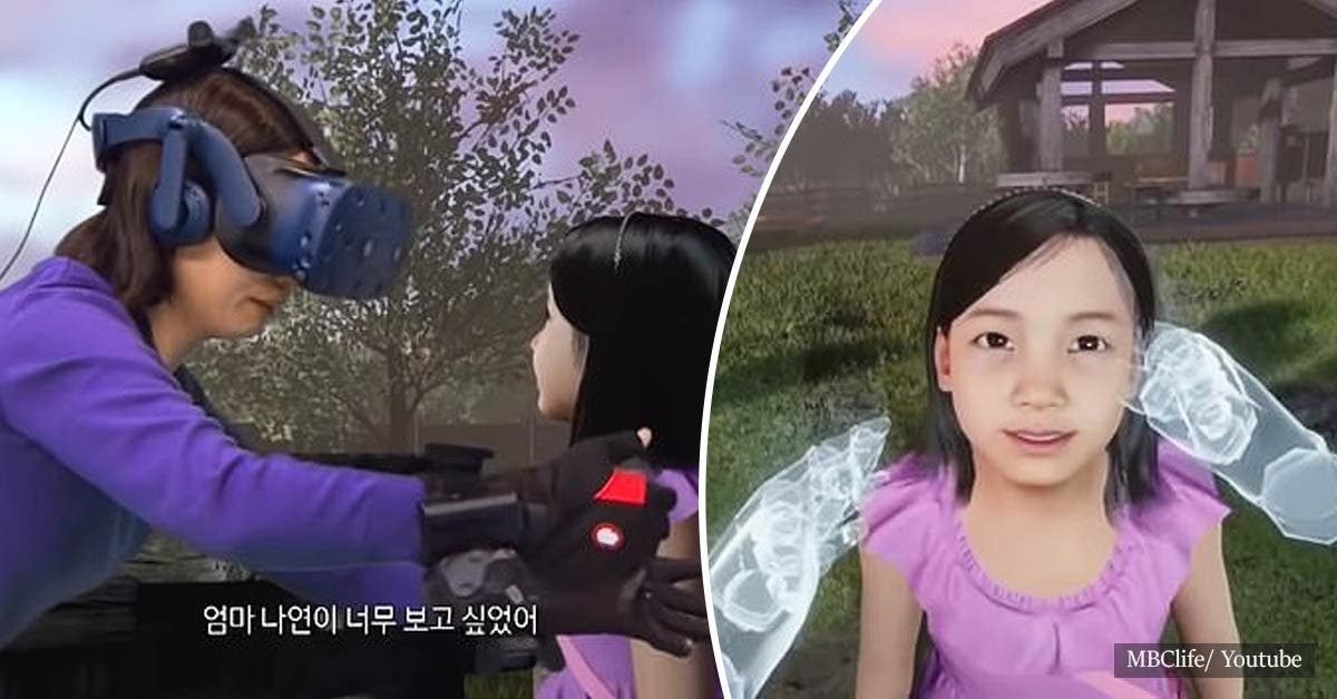 TV show uses virtual reality to 'reunite' mother with her little daughter who died in 2016