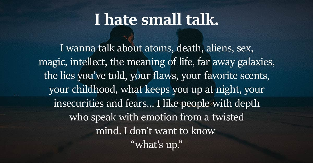This is why introverts hate small talk