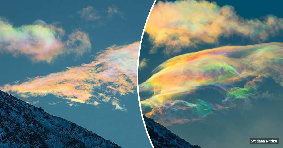 Magnificent Rare Iridescent Clouds Captured In Siberia's Mountains