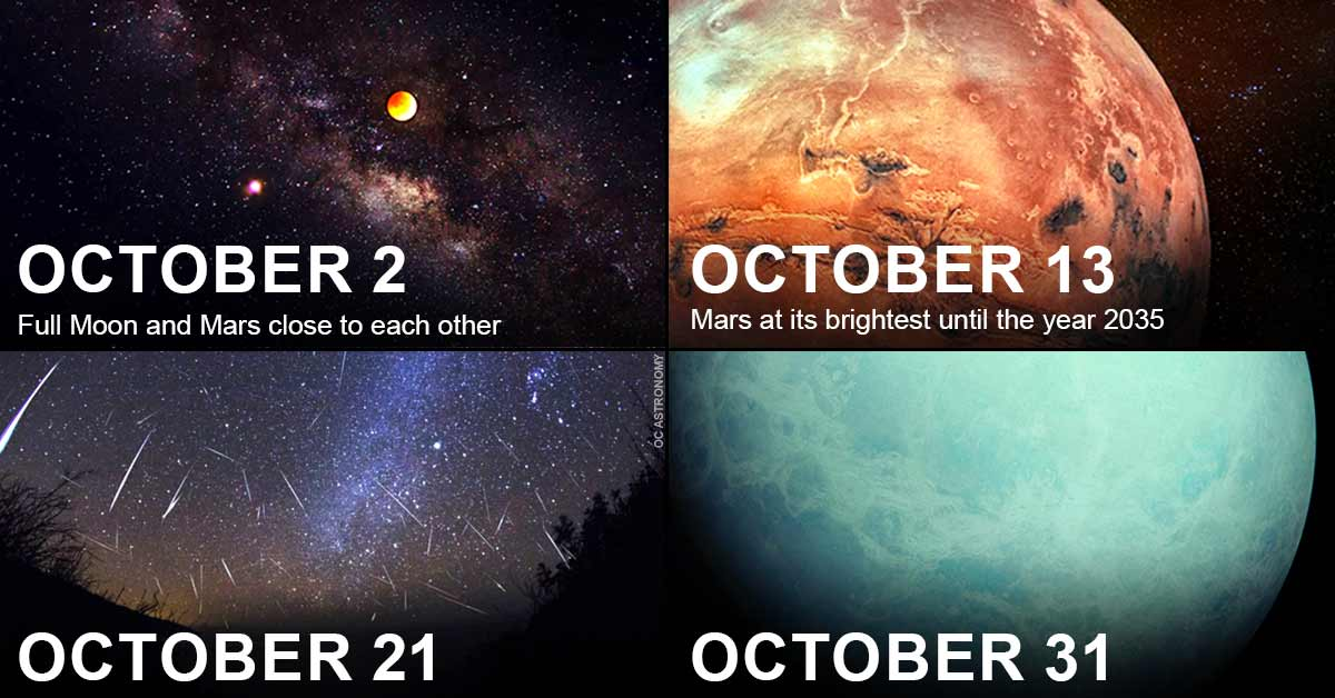 Don't Miss these 4 awesome cosmic events in October!